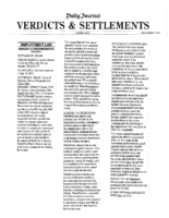 Verdicts & Settlements 12-20-13 -Corydon Johnson