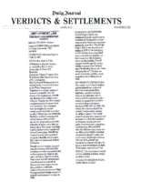 Verdicts & Settlements 12-20-13 -William Goldstein