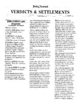 Verdicts & Settlements – Chavez v City of LA